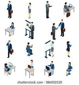 Business People Isometric Set