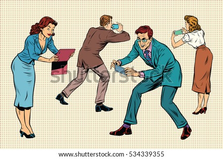 Business People Play Online Games On Stock Illustration 534339355