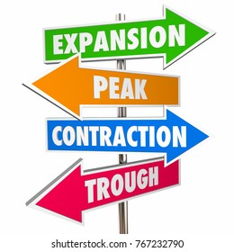 Business Phases Lifecycle Expansion Contraction Signs 3d Illustration