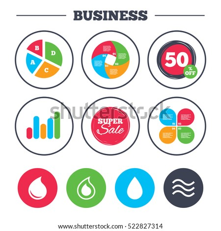 Business Pie Chart Growth Graph Water Stock Illustration Royalty
