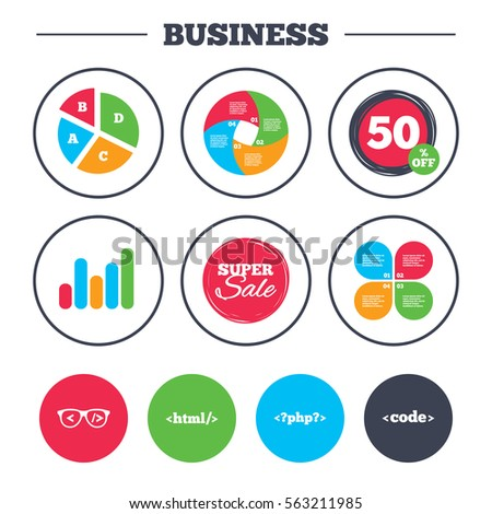 Business Pie Chart Growth Graph Programmer Stock Illustration