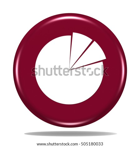 Business Pie Chart Icon Internet Button 3 D Stock Illustration