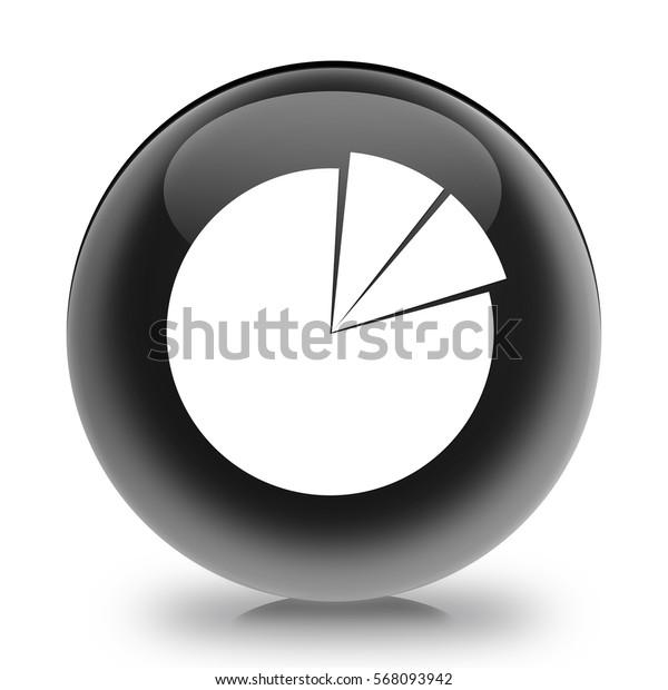 Business Pie Chart icon. Internet button.3d illustration.