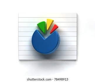 business pie graph on white background