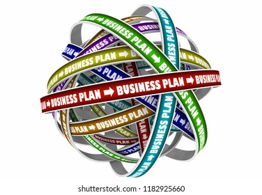 Business Plan Strategy Goal Mission 3d Illustration