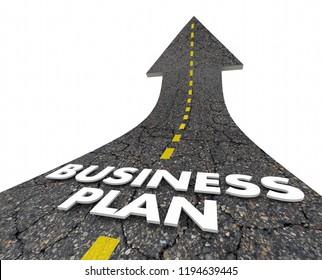 Business Plan Strategy Road Arrow 3d Illustration