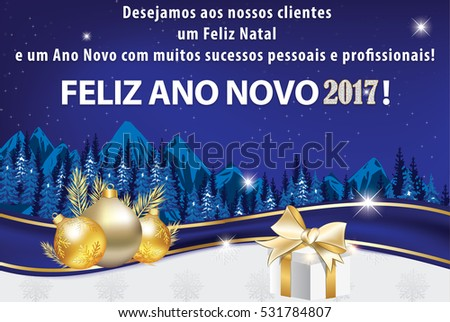 business portuguese new year greeting card for clients we wish all our clients merry christmas