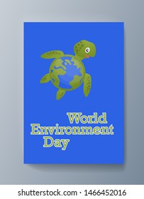 Business presentation brochure advertising the idea environmental protection. Illustration