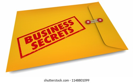 Business Secrets Running Your Company Management 3d Illustration
