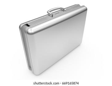 Business steel case side 3D