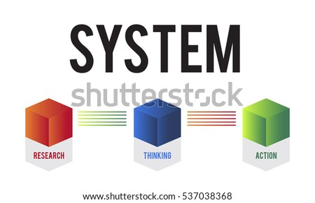 Business System Development Diagram Concept Stock Illustration