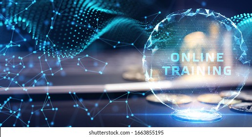 Business, Technology, Internet and network concept. Coaching mentoring education business training development E-learning concept.