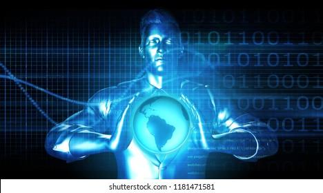 Business Technology Solutions with Global Platform System 3D Render