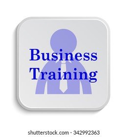 Business training icon. Internet button on white background.