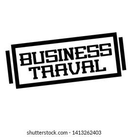 BUSINESS TRAVAL stamp on white
