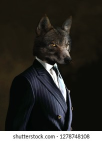 Business wolf dressed to kill.