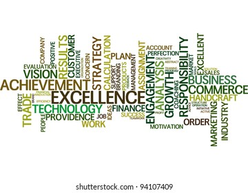 business word cloud over white