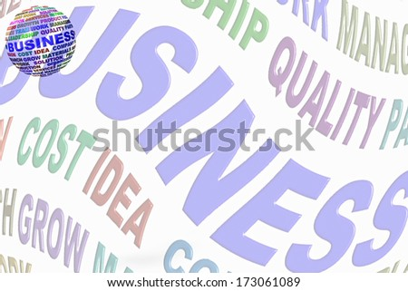 business word globe related words stock illustration 173061089