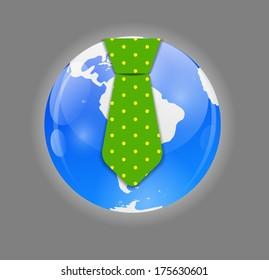 Business World Concept  Illustration