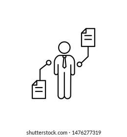 Businessman document consumer icon. Element of consumer behavior line icon