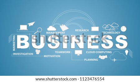 Bussiness text infographic design graphic concept. Vector Illustration. isolated over a blue background