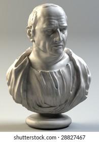 Bust of Cicero (3D render)