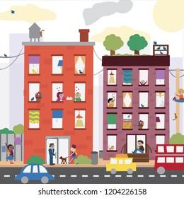 Busy City Illustration