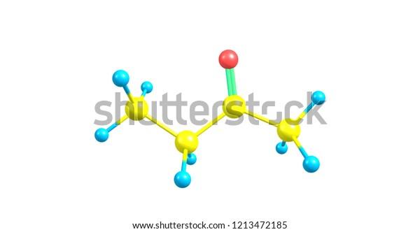 Butanone Methyl Ethyl Ketone Organic Compound Stock