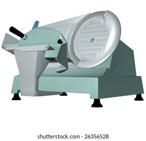 A butchers , or supermarket meat slicer.