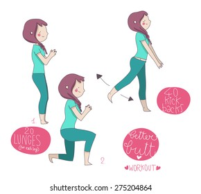 butt workout illustrated exercises