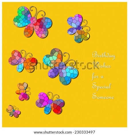 Butterflies Birthday Wishes Special Someone Stock Illustration