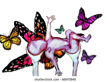 Butterfly Baby Illustration