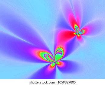 Butterfly floral fractal