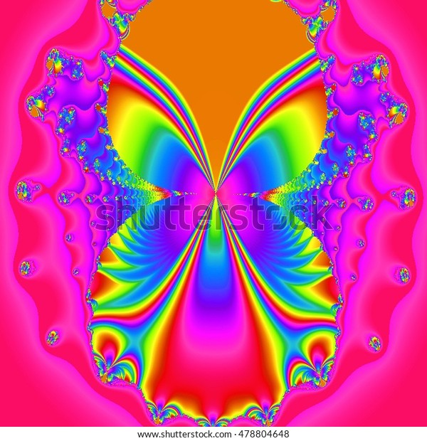A Butterfly fractal shape  in colorful gradients.