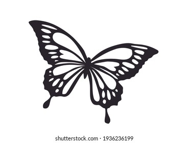 Butterfly silhouette icon for mug, t shirt, phone case fashion style spring sum