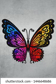 The butterfly of various colors frequently evoke beauty, freedom, change, joy, femininity, nature and terrestrial elements.