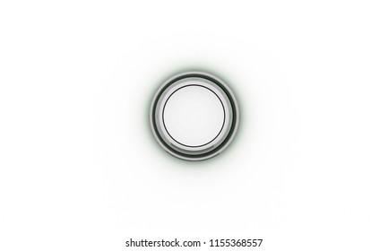 Button grey on white background 3d illustration