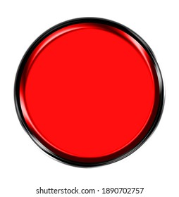 buttons double 3D border red stylish empty button for graphic illustration