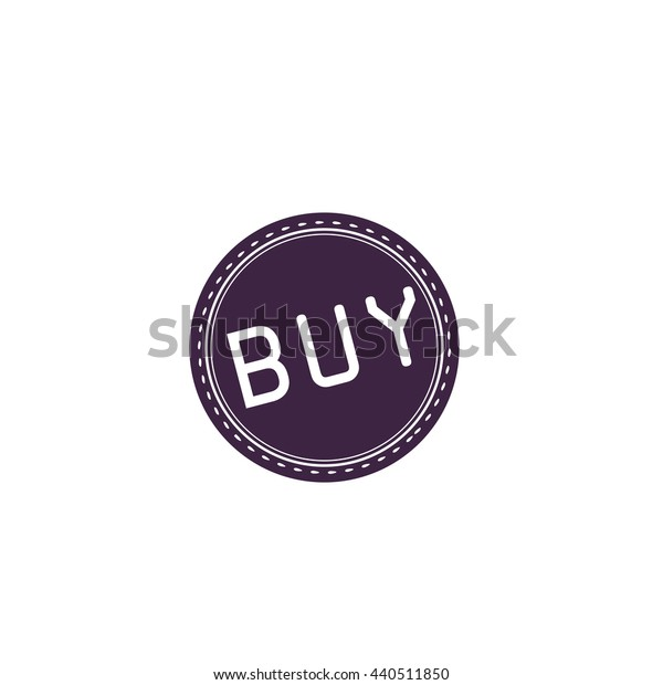 Buy Badge, Label or Sticker. Simple blue icon on white background