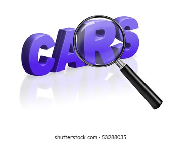 buy car second hand car button cars icon rent car buy car internet car sales online sale 3D word with magnifying glass blue