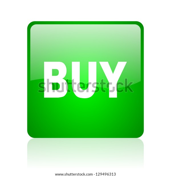 buy green square web icon on white background