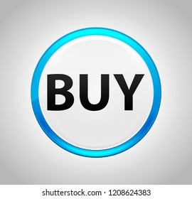 Buy Isolated on Round Blue Push Button