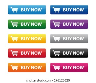 Buy now buttons. Vector available.