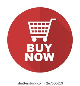 buy now red flat icon