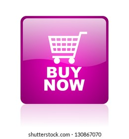 buy now violet square web glossy icon
