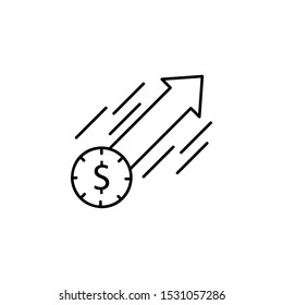 Buying, dollar, arrow icon. Element of consumer behavior for mobile concept and web apps icon