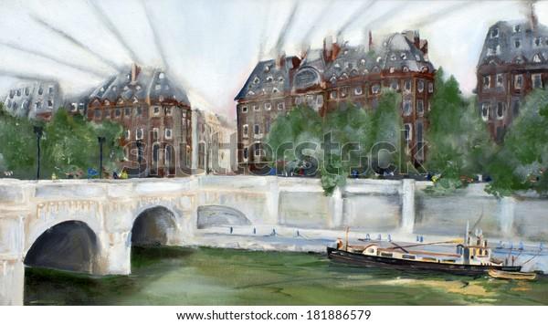 By the river. Paris.