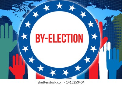 by-election election on a World background, 3D rendering. World country map as political background concept. Voting, Freedom Democracy, by-election concept. by-election and Presidential election