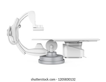 C Arm X-Ray Machine Scanner Isolated. 3D rendering