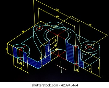 cad blueprint detail